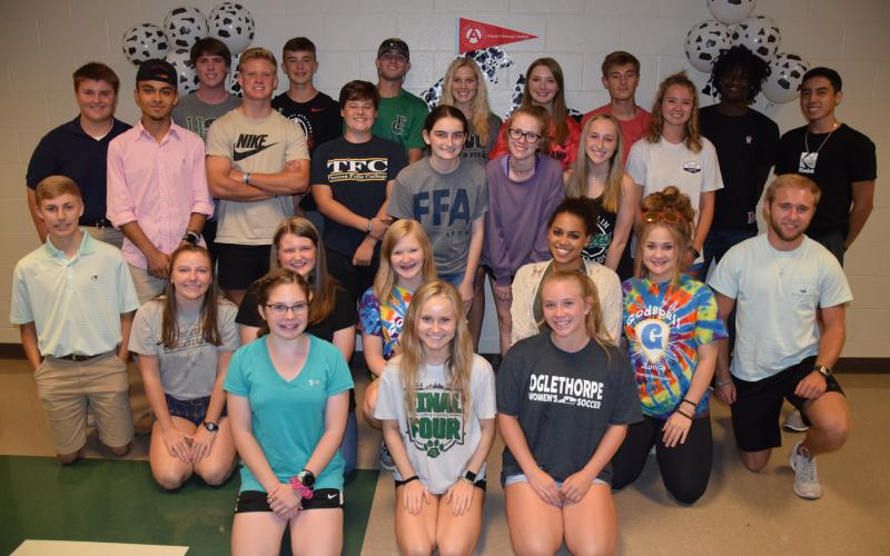 Students chosen for the Chick-Fil-A Leadership Academy at Franklin County High School are (in no particular order) seniors Alex Henry, Alyssa Yacobacci, Brandon Duncan, Claire Conner, Emma Maffett, Jayce Kimsey, Julian Rangel, Keaton Burton, Kennedy Williams and Micah Roebuck; juniors Allie Royston, Austin Norris, Cole Bunner, Connor Hill, Erin Scully, Everett Haselden, Faith Hart, Hannah Callahan, Jean Swancey and Mason Kelley; and sophomores Allison Rich, Canyon Randall, Chandler Coulter, Eryn Vaca Zamudi