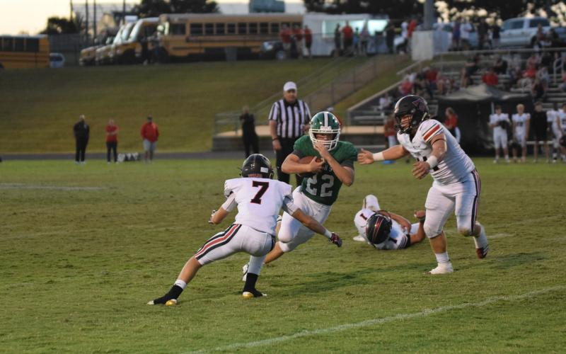 Simon Burger breaks free on a run Friday night against North Oconee.