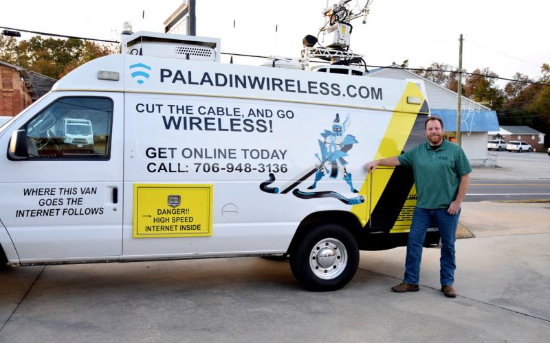 Stephen Fortmann has garnered interest all over the Southeast for his Paladin Wireless high-speed internet service. (Photo by Manus)
