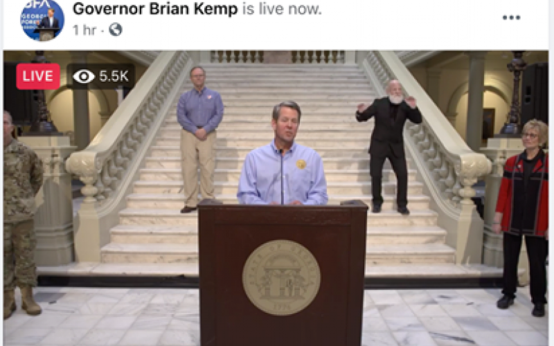 Gov. Brian Kemp announced Wednesday he plans to extend Georgia's shelter-in-place order through the rest of April as coronavirus continues to spread and hit local hospitals hard.