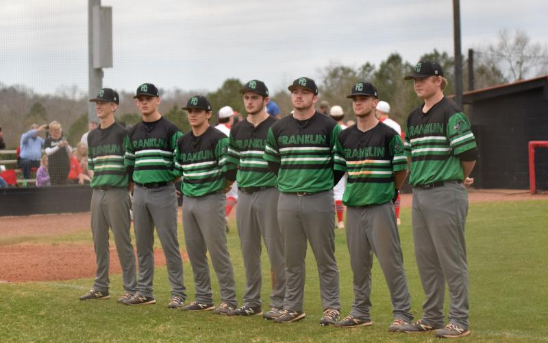 The Franklin County Lion baseball seniors were recognized before their final game at Jackson County in Jefferson last month. Their season, and the seasons of all spring sports athletes, ended Thursday when Gov. Brian Kemp closed schools for the rest of the school year.