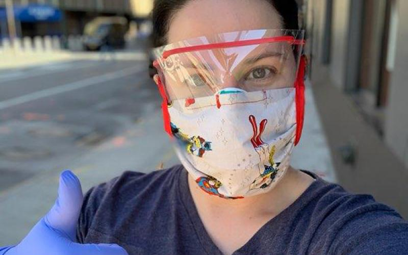 Franklin County native and nurse Joanna Davis Malcom is pictured during her recent mission to New York City to help the city's overwhelmed hospital system during the coronvirus pandemic.