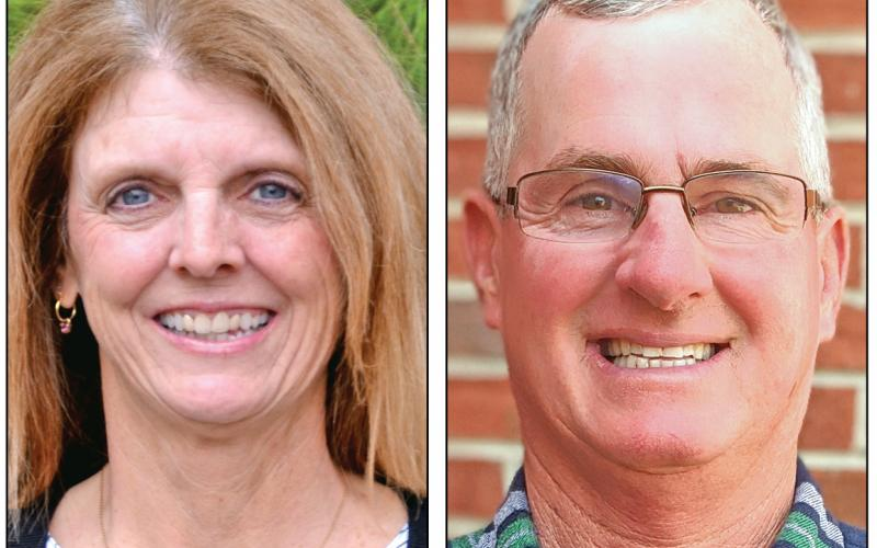 Incumbent Jo Beth James (left) is facing challenger Kent Hall (right) in the race for the Post 2 seat on the Franklin County Board of Education.
