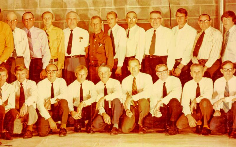 Gerald Voyles submitted this photo of an early incarnation of the Red Hill Fire Department in the 1970s. Pictured are (front, from left) Gregg Chitwood, Rance Roberts, Raymond Roberts, Joe Segars, Charles Akin, Assistant Chief Tommy Voyles, Chief Jerry South, Marshal Whitworth, Howard Payne, Gerald Voyles, J.H. Manley, (back) Ralph Roberts, Mike Elrod, C.A. Milford, Esco Milford, Bill Owens, John L. Whitworth, J.H. Broome, Don Milford, Doyle Roberts, T.D. Cheek, Bud Roberts, James Milford, Sam Mauldin and H
