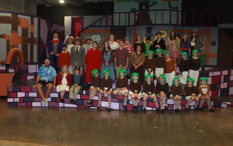 "The cast and crew of the Franklin Community Players' Youth Summer Theatre production of ""Willy Wonka Jr."" are Jon Erik Tripp, Isabella Baskins, Kylie Vandiver, Brooke Tate, Brock Fowler, Grant Ware, Maddison McGee, Gracie Tucker, Easton Walker, Micah Witcher, Ella Grace Madden, Carolina Madden, Colbie Patterson, Bennett Jones, Jonathan Dorn, Zoie Atkinson, Erika Ivie, Mia Patterson, Audrey Johnson, Ashlyn Dilworth, Brooke Davitt, Alice Tanner, Jade Frizier, Bella Christian, Allie Crunkleton, Autumn Rich, Li"