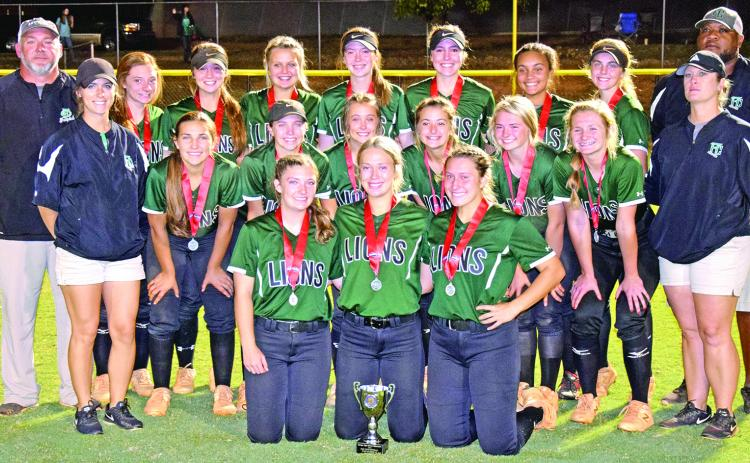 The Franklin County Lady Lions softball team were disappointed Monday in not winning a second straight state championship but still played in the game for the second year in a row and got to host the game on their home field. (Photo by Scoggins)