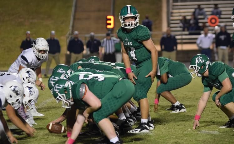 The Franklin County Lions defeated East Jackson 35-14 Friday for their first win.