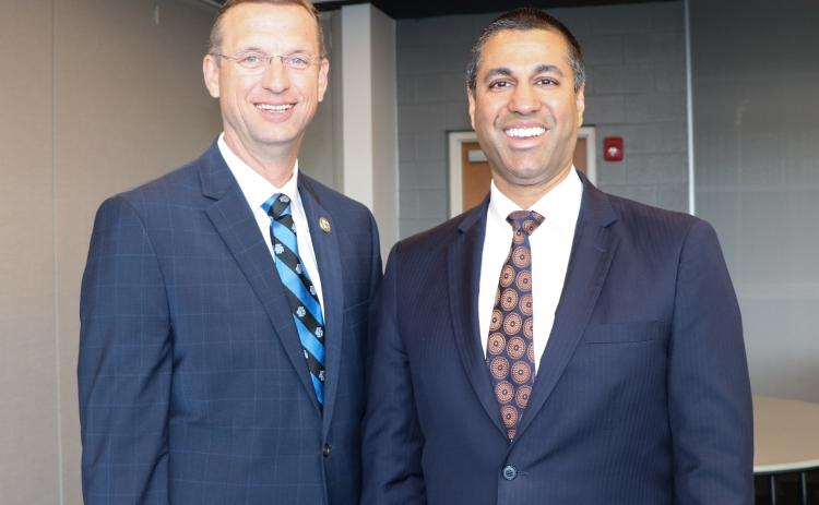 U.S Rep. Doug Collins (left) sent a letter Thursday to FCC Chairman Ajit Pai (right) asking for immediate action to move Franklin and three other counties to the Atlanta TV market in light of the coronavirus pandemic.