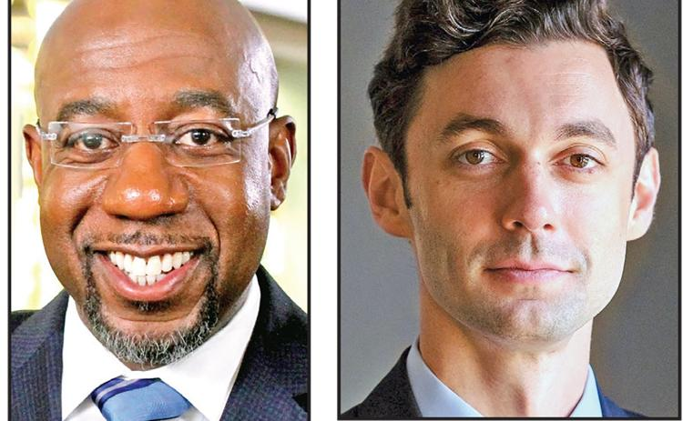 Democrats Raphael Warnock and Jon Ossoff appear to have won two U.S. Senate seats up for election Tuesday in the state.