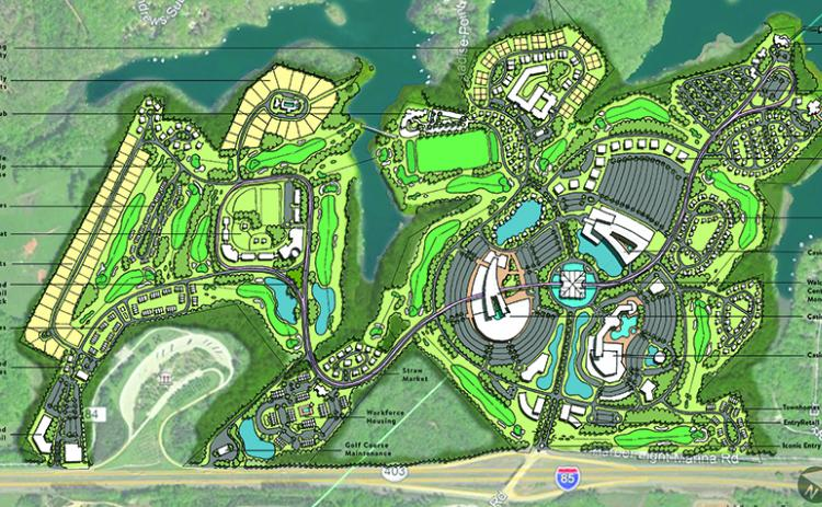 One proposed site for a casino and entertainment complex is a large tract of land that straddles the Franklin/Hart County line on Lake Hartwell. The site and others have been floated in a push to get the Georgia General Assembly to call for a referendum on casino gambling.
